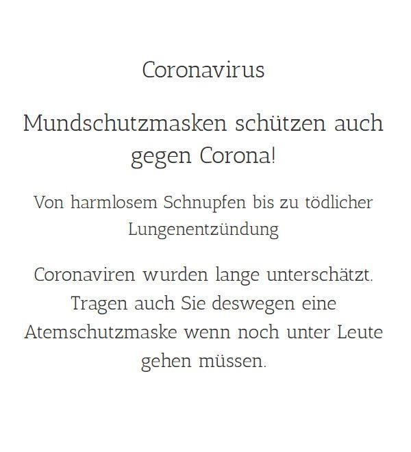 Covid 19 Schutzmasken / Desinfektionsmittel für Stromberg - Warmsroth, Stromberger-Neuhütte und Roth