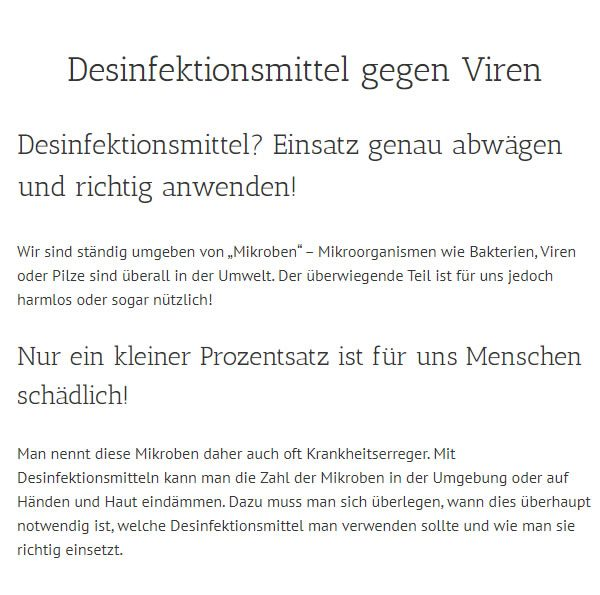 Desinfektionsmittel Gegen Viren in Delmenhorst